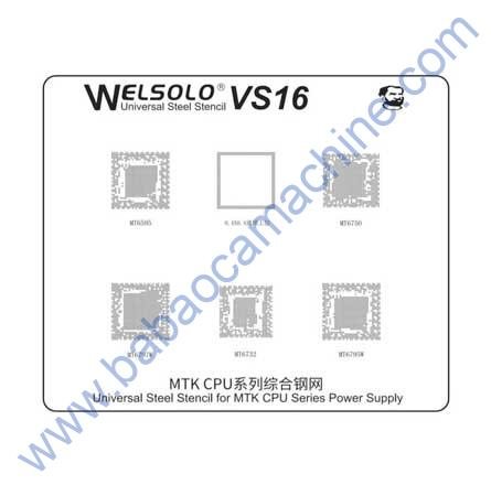Mechanic Welsolo VS16 Universal Stencil BGA Reballing mtk cpu MT6595/ 6750/ 6732
