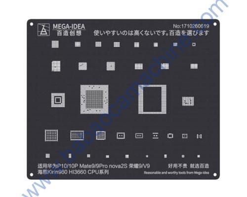 Black Android Stencil BGA Reballing For Hi 3660 CPU Qianli-QL07