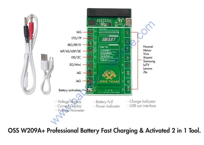w209a+ battery activation board